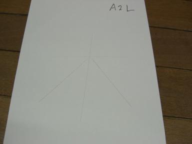 ロボで書いた「木」の字