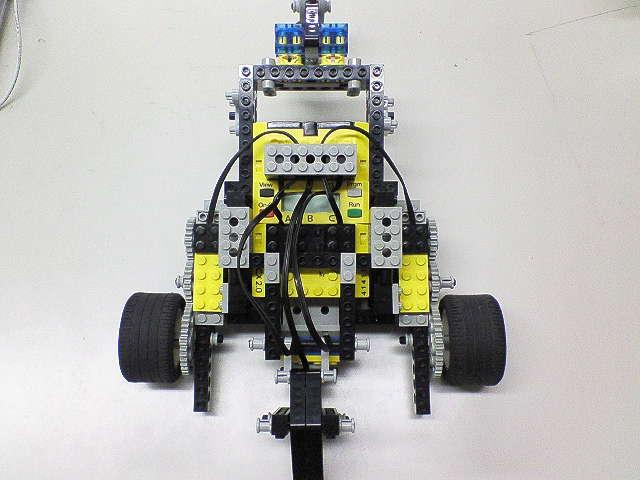 試作ロボ・上から見た図