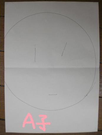 K作 A子の似顔絵