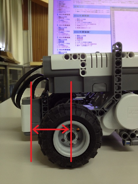 センサーとタイヤの距離について
