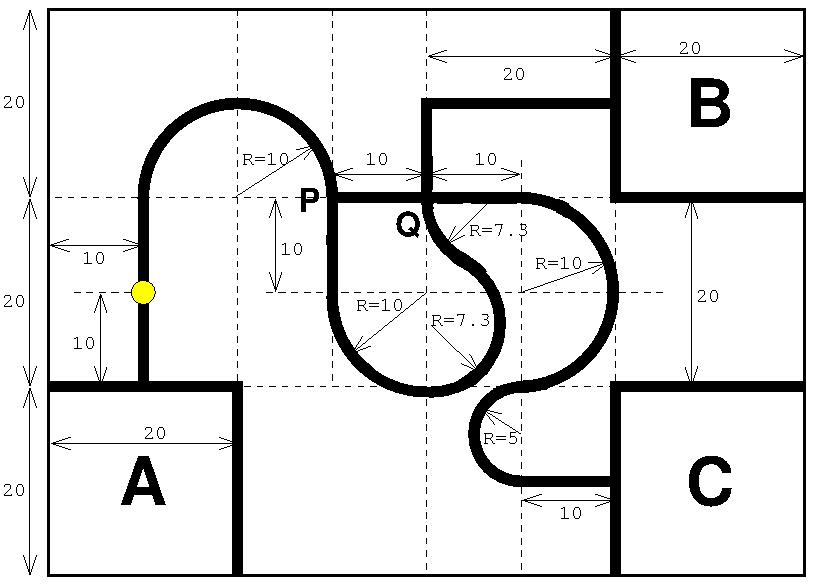 ロボコンのフィールド平面図