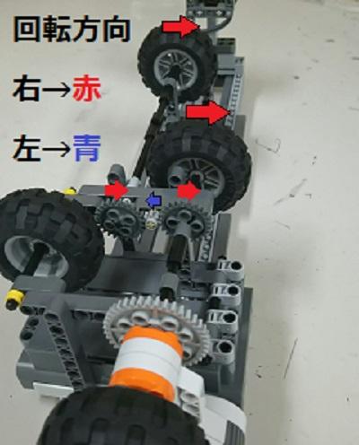 3号機駆動輪の構造の画像