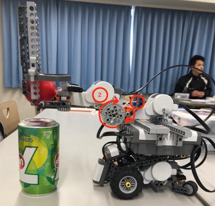 横から見たロボットの写真