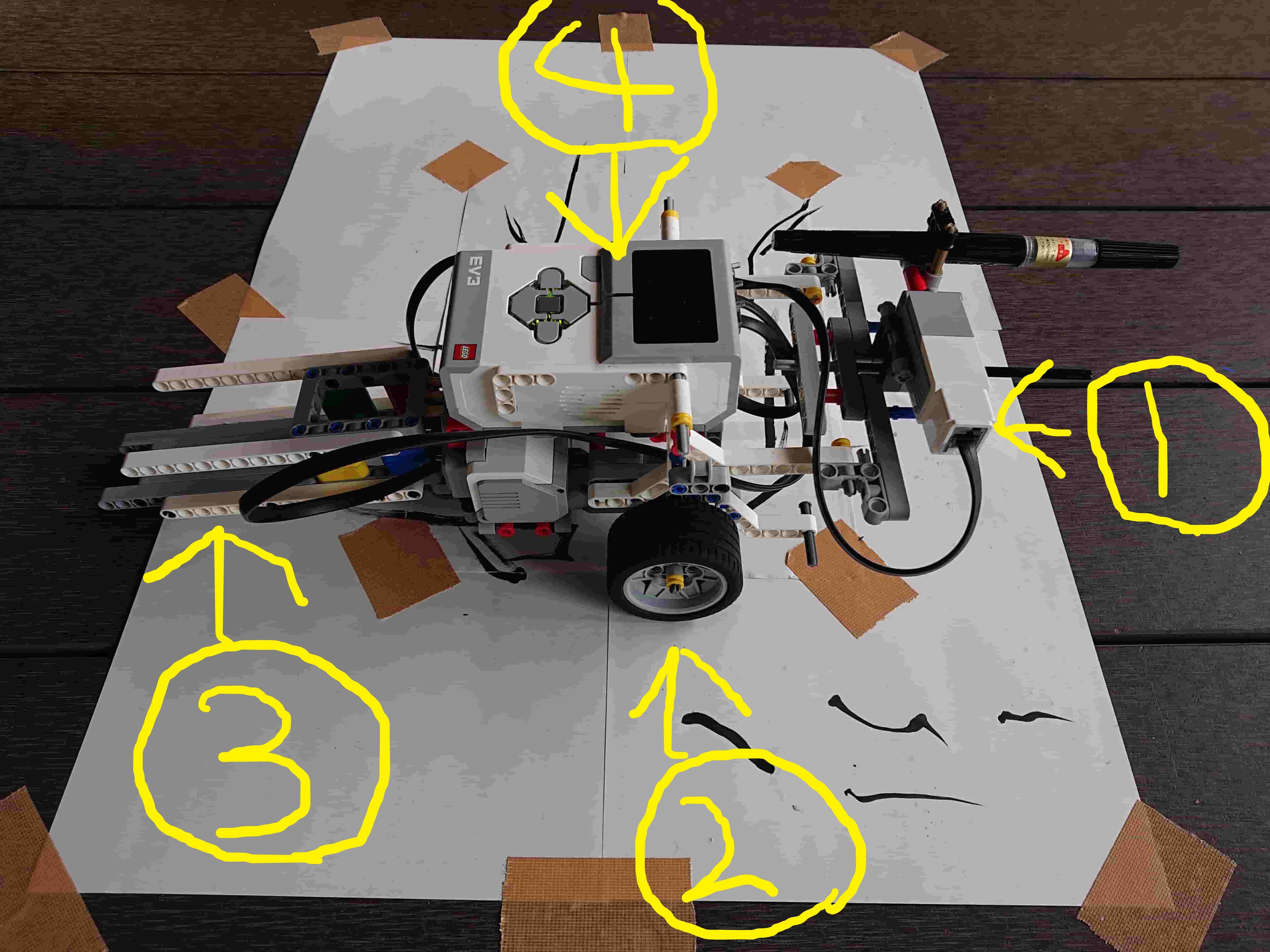 右手がロボット前部